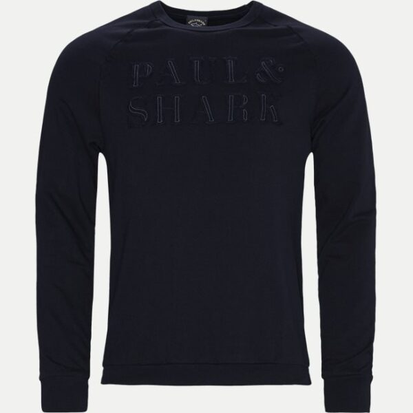 Paul & Shark Regular | Organic Cotton logo Crewneck Sweatshirt