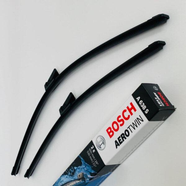 A638S Bosch AeroTwin Vinduesvisker / Viskerblade sæt på 65+53cm passer til Audi A6 modeller fra årg. 2010 og frem Bosch Vinduesvisker / Viskeblade & Bagrudeviskere