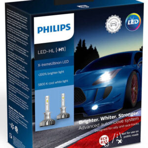 Philips X-treme Ultinon H1 LED +200% mere lys (2 stk.) Philips X-Treme Ultinon LED +200% / +250%