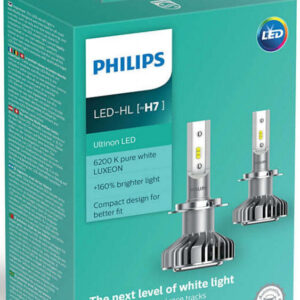Philips Ultinon H7 LED +160% mere lys (2 stk.) Philips Ultinon LED +160%