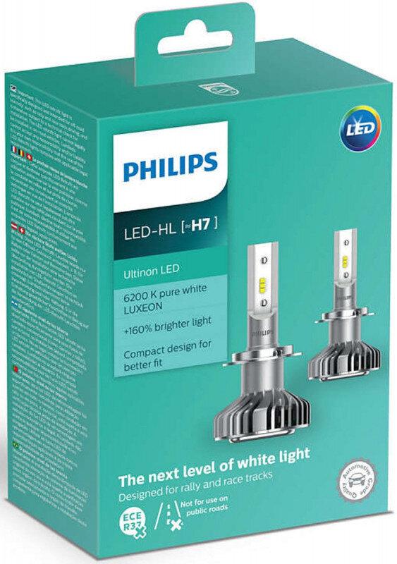 Philips Ultinon H7 LED +160% mere lys (2 stk.) Philips Ultinon LED +160%