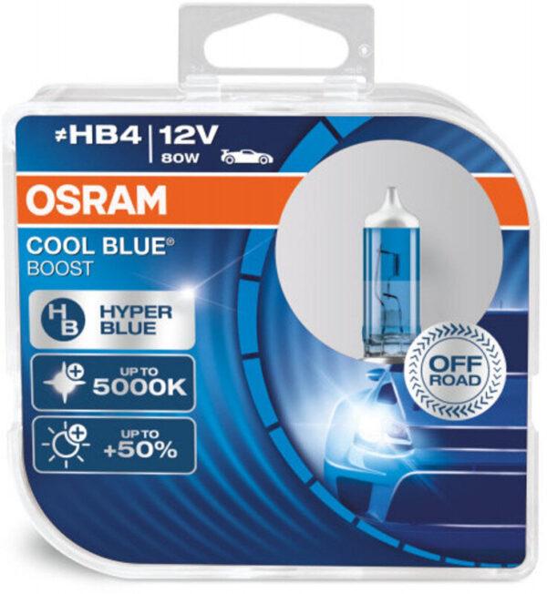 Osram HB4 Cool Blue Boost pærer med +50% mere lys
